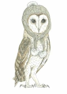 'Winter Owls in Winter Hats' by Candace Jean