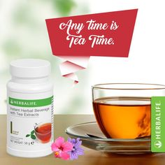 Herbalife tea is a traditional black tea & green tea with extracts of malva flower, hibiscus flower and cardamom seeds.