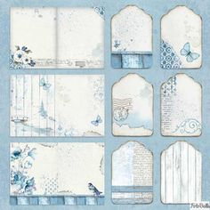 Paper Pad - Blue Land Double Sided Sheets) by Stamperia for Scrapbooks, Cards, & Crafting - Scrapbooking Scrapbooking Diy, Album Photo Scrapbooking, Scrapbook Box, Scrapbook Journal, Scrapbook Supplies, Scrapbook Sketches, Papel Vintage, Etiquette Vintage, Image Paper