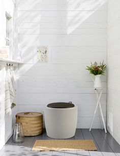 Composting organic toilet from Hasselfors Garden.