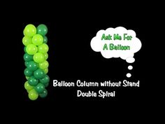 Balloon Column Tutorial without Stand/Frame - YouTube