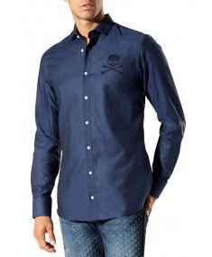 Philipp Plein - Darkness Dark Blue Shirt #PhilippPlein
