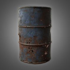 Old oil barrel - model Oil Barrel, Game Props, Zombie Art, Building Art, Military Diorama, Cyberpunk Art, Art Station, Playroom Decor, Tallit