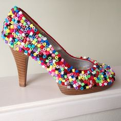 Redesign - Party shoe hama perler beads by perletid