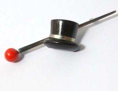 Bakelite Top Hat & Cane Pin