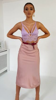 Look of the Day; shared by Buchwald Jewelers. Advance this look with some fine upscale jewelry. Hoco Dresses, Satin Dresses, Pretty Dresses, Sexy Dresses, Casual Dresses, Fashion Dresses, Sexy Outfits, Dress Outfits, Look Fashion