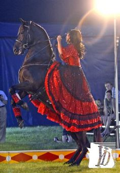 Circus, Circus and More Circus performer Sashi and her horse Navara  perform for spectators during a show at the Dallastown Community Park, Sunday June 10, 2012. Sponsored by the Dallastown Recreation Committee, the circus returns for two shows Monday, June 11 at 5:30 and 7:30 p.m. Tickets are available at the gate.  John A. Pavoncello photo - jpavoncello@yorkdispatch.com