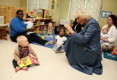"camillasgirl via anythingandeverythingroyals:  Visit to the United States, Louisville, Kentucky, March 20, 2015-The Duchess of Cornwall visited a community project called ""Neighborhood House""-here the Duchess got on the floor to talk with children and their parents"