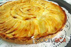 THERMOMIX. Tarta de manzana clásica...Ufff...Mejoras:  * La crema pastelera normal.  * No poner la mermelada hasta sacar del horno con la mantequilla.