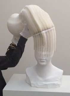 The strange sculptures flexible Chinese artist Li Hongbo , made ​​entirely of…