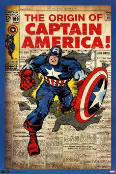 Captain America - Comic Cover poster