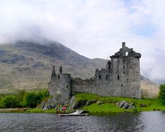 Kilchurn Castle ruins, Loch Awe, in Argyll and Bute -  the Castle was built  ca. 1450 by Sir Colin Campbell, first Lord of Glenorchy on lands that had originally belonged to the MacGregor Clan.