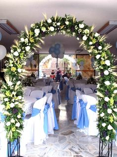arcos de flores para entrada