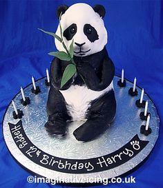3D Panda Birthday Cake Imaginative Icing cakepins.com