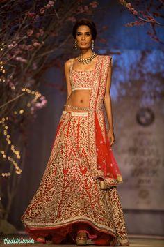 Bridal red lehenga by Jyotsna Tiwari | thedelhibride wedding blog