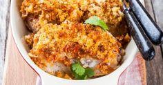 Recette de Cabillaud léger en crumble croquant de parmesan au curry. Facile et rapide à réaliser, goûteuse et diététique.