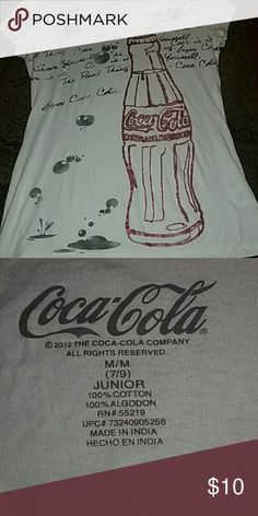 Ladies coke tee White v neck 100%cotton very gently used,like new 7/9 juniors Coca-Cola  Tops Tees - Short Sleeve
