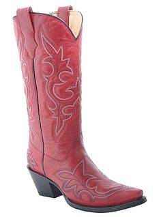 Corral Boots Western Desert Red Stitched R1952