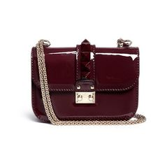 Valentino 'Punkouture Rockstud' patent leather chain bag and other apparel, accessories and trends. Browse and shop 10 related looks.