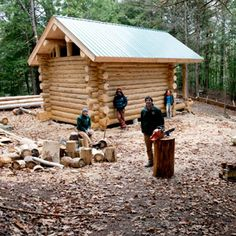 How to Build a Log Cabin - Build a Log Cabin This Summer - Popular Mechanics