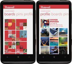 Pinterest Windows Phone App