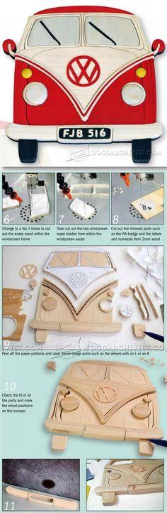 VW Camper - Intarsia Projects, Tips and Techniques | WoodArchivist.com More