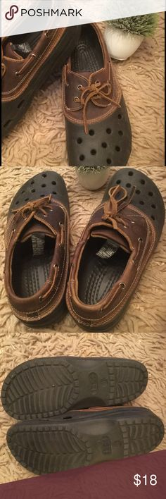 ee1f51f142c5 Men s Crocs. Size 11. EUC Worn once. Like new lace up men s leather