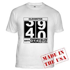 40th Birthday Oldometer Fitted T-Shirt