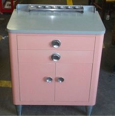 Vintage Pink Medical Cabinet - just find a spot for it!!!!  Anywhere!