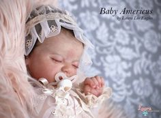 Baby Americus by Laura Lee Eagles My version of Baby Americus by the talented Laura Lee Eagles! On Ebay now!  Ebay Auction: http://www.ebay.co.uk/itm/191982002949?ssPageName=STRK%3AMESELX%3AIT&_trksid=p3984.m1555.l2649 #LauraRebornDolls #RebornDolls #Dolls #LauraCosentino #LauraLeeEagles #RebornDollsArtist