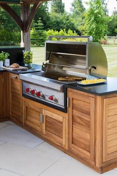 kitchen design floor plans Outdoor Living: Outdoor Kitchen Project By Humphrey Munson - The Kitchen Think Outdoor Kitchen Plans, Backyard Kitchen, Diy Kitchen, Kitchen Ideas, Rustic Outdoor Kitchens, Wooden Kitchen, Kitchen Living, Rustic Kitchen Design, Outdoor Kitchen Design