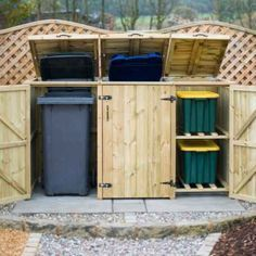 Cache poubelle bois en 20 idées DIY pour camoufler les conteneurs disgracieux