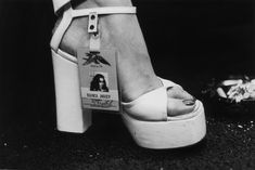 The ultimate groupie shoe: Bianca Jagger at a Rolling Stones Concert, 1975