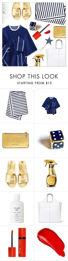 """On a warm day"" by laste-co ❤ liked on Polyvore featuring Carven, Jamie Wei Huang, Alexander McQueen, Schutz, Moschino, Fresh, Victoria Beckham, Bourjois, Burberry and Diesel"