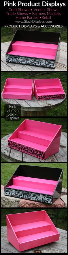Pink Product Displays & Accessories for your next vendor event or craft show!