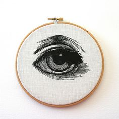 Hand-stitched Eye Artworks by Sam P. Gibson