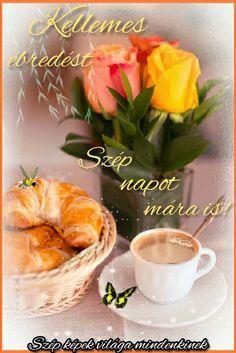Good Morning Wishes, Fresh Rolls, Fruit, Tableware, Ethnic Recipes, Food, Night, Good Night Greetings, Cordial