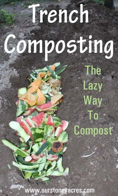 Trench composting fits perfectly into my crazy gardening life. It's much simpler than trying to constantly have a pile of cooking compost.