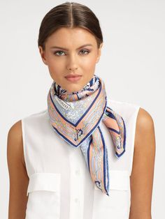 Papillon Print Silk Twill Square Scarf - So simple