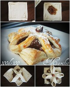 Milföy güzelliği -- saving for puff pastry formation Pastry Design, Bread Shaping, Puff Pastry Recipes, Bread And Pastries, Baking And Pastry, Creative Food, Sweet Recipes, Bakery, Sweet Treats