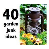How to grow JUNK in your garden I have a litte garden trick I play. When the plants are still fairly young, I'll place selected junk pieces among the young bl...