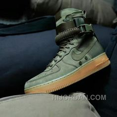 timeless design a226b 3e5ce Nike Special Forces Air Force 1 Boots Faded Olive Faded 859202-339 Olive  Green