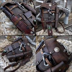 LeatherWerk Swiss Army Vertical Packsaddle from 1913 is part of pizza - pizza Bushcraft Camping, Camping Gear, Bushcraft Kit, Camping Equipment, Crea Cuir, Cool Gear, Edc Gear, Kydex, Leather Projects