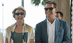 Emma Thompson and Pierce Brosnan team up in The Love Punch romp #DailyMail