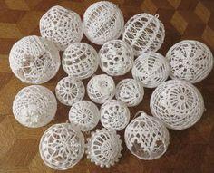 DrucikAsi - ROK 2015 Rope Crafts, Diy Crafts, Crochet Lamp, Doily Art, Doilies Crafts, Shabby Chic Crafts, Boho Diy, Xmas Ornaments, Crochet Accessories