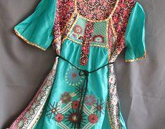 Women Top Shirt Kaftan Caftan Embroidered Tunic by myuniverse, 26.90