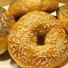 Homemade Bagels | Jamie Geller Egg Bagel Recipe, Jewish Recipes, Homemade Bagels, Bread And Pastries, Fresh Bread, Challah, Sunday Brunch, Tray Bakes, Recipes