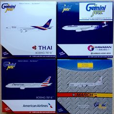 Gemini Jets New Releases and restocks have now arrived. This order shipping today consists Thai B787-8, Hawaiian A330-200, American B787-8 and USAF KC-135R to make one of my customers very happy! modelcorner.co.uk