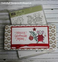 Zauberhaft-handgemacht, Schokoladendose, Weihnachten, kleine Geschenke, Festtagsmäuse