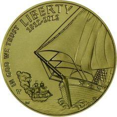 5 Dollar Gold Die Flagge der Vereinigten Staaten UN